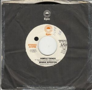 Minnie Riperton Simple Things Demonstration 45-rpm Record EX Vinyl