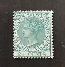 Straits Settlements stamp - 1883 Queen Victoria 24c Mounted Mint Catalogue $140