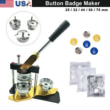 25/32/44/58mm Rotate style Badge Button Maker Machine Manual+100 Buttons
