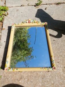 Vintage Antique  Barbola  Easel Mirror