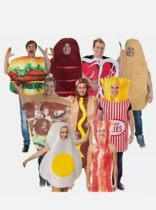 Men Ladies Funny Stag Party Food Costumes Comedy Fancy Dress Outfit Adult