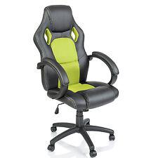 TRESKO® Sedia da ufficio girevole per casa Poltrona ufficio Racing Verde chiaro