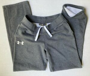 Under Armour Youth Boys Loose Gray Full Length Sweatpants Sz Youth XL Drawstring