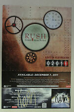 """RUSH """"Time Machine: Live in Cleveland"""" Full Page AD magazine clipping 2011"""