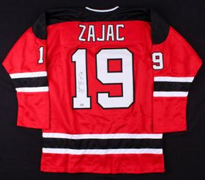 Travis Zajac Signed New Jersey Devils Jersey (First Class Autographs Hologram)
