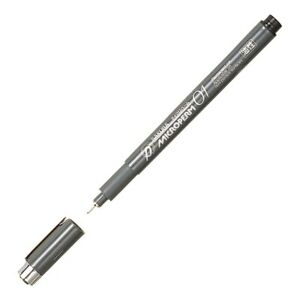 XEOK01-49 Sakura Microperm 01 Permanent Marker, Black, 0.25mm Needle, Pack of 1