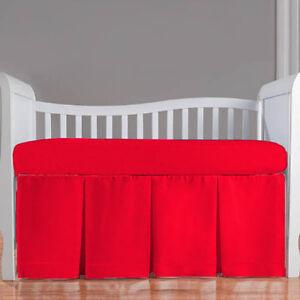 Nursery Bedding Baby Crib/Mini crib Three Pleat Skirt  Solid 23 Color