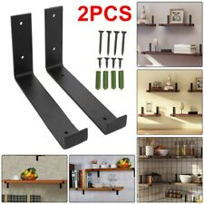 2pcs/set Rustic Shelf Brackets Scaffold Board Industrial Solid Steel Heavy Duty