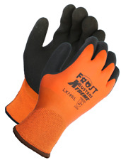 Frost Buster Thermo Latex Waterproof Winter Gloves Orange Fully Coated Insulated