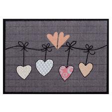 Paillasson Cœurs LAVABLE 50x70 Paillasson tapis de sol Gris Paillasson cœur