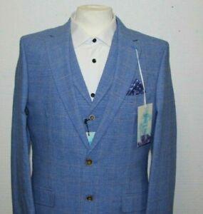 Men's Harry Brown Light Blue Check Mix & Match Suit ...Ref 7599