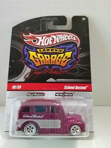 HOT WHEELS LARRY'S GARAGE SCHOOL BUSTED RR TIRES CHASE