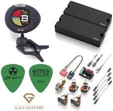 EMG DE Set Black David Ellefson 5 String Soapbar Bass 40DC & 40CS ( DT-C2 TUNER)