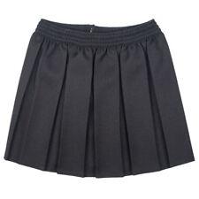 Girls Kids Skirt School Uniform Box Pleated Elasticated waist Skirt 2-18Years