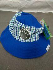 Blue Plaid Reversible Sun Beach Hat 12-18 Months Toddler Grand Sierra UV UPF50