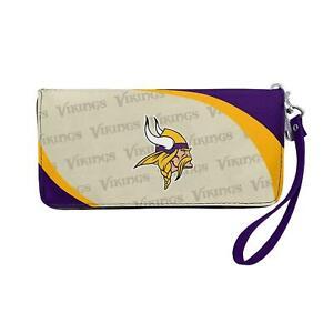 Minnesota Vikings NFL Curve Zip Organizer Ladies Wallet
