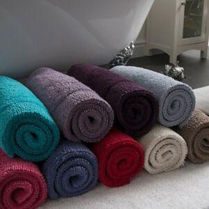 Premium Reversible Bath Mat 100% Cotton Large Bathroom Rug 53 x 85cm Luxury Soft