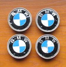 4 x GENUINE BMW ALLOY WHEEL CENTRE HUB CAPS