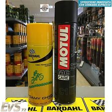 Kit Grasso Catena Bardahl Foamy Chain Lube + Sgrassante Motul C1 Chain Clean