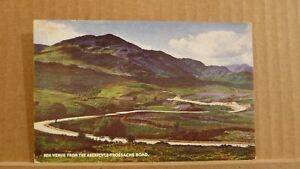 Postcard posted 1957 Stirlingshire Ben venue from the Aberfoyle Trossachs road