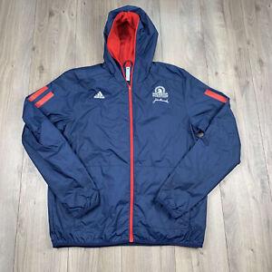Adidas Men's 2020 Boston Marathon Volunteer Jacket SV3 Navy Size L Large