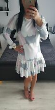 Dress mini Women's Ladies Girls regular size UK8 party summer long sleeve pastel