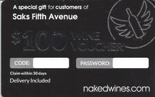 $100 nakedwines.com Wine Voucher Gift Card Coupon
