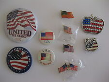 American Flag Pin Collection ( Lot of 10 )