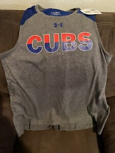 Chicago Cubs Tank Top (Womens Small) Under Armour
