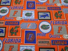 "UNIVERSITY of FLORIDA "" GATORS ""  NEW SPORT DESIGN 1  YARD PIECE 100% COTTON #6"