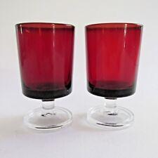 2 Small Vintage  Liqueur/Desert Wine Glasses 7cm tall 4cm diameter.marked France