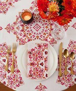 Echo Design Parvani Cotton Blend Round Tablecloth 70 inch
