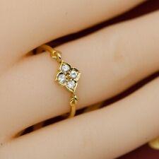 CARTIER 18K 4-Diamond Hindu Floral Ring - Sz 50 (A1629)