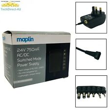 Certified Maplin DC 24V 750mA Power Supply AC/DC Adapter 6 Connectors RRP £14.99