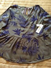 ROXY. Long sleeve shirt/blouse/top. cotton.Size L. BRAND NEW With Tags. Was £50