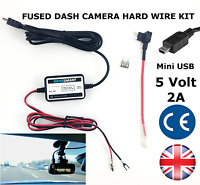Universal Hard Wire Hardwire Kit 5V Lead Mini USB Power Fits Mio, TomTom Snooper