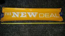 VTG 90's HUGE 4 FOOT THE NEW DEAL SKATEBOARD SIGN BANNER POSTER RARE + sticker !