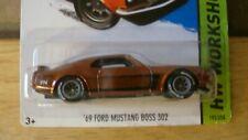 Hot Wheels 2015 Super Treasure Hunt '69 Boss 302 in protectors (read)