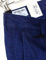 Lee 101 Schmal Chino Jeans Baumwoll-Leinen Indigo Selvage Konisch Enge Passform