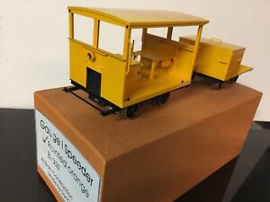 Brass San Cheng G scale gasoline speeder and trailer.