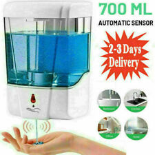 700ML Automatic Soap Dispenser Sanitizer Hands-Free IR Sensor Touchless White