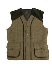 New Mens Tweed Waistcoat Shooting Farming Waterproof Jacket M to XXXL Clearance