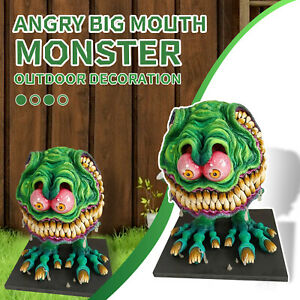 Garden Angry Big Mouth Statue Resin Statue Crafts Handmade Home Decor Ornaments