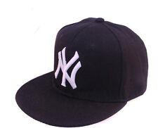 Unisex Schwarz New York Hip Hop yankee style NY Baseball Kappe Snapback .