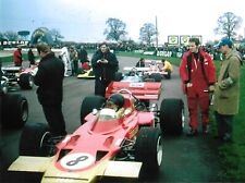 JOCHEN RINDT LOTUS 72 INTERNATIONAL TROPHY 1970 PHOTOGRAPH FULL FACE HELMET