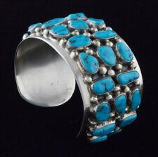 Vintage Natural Sleeping Beauty Turquoise Cluster Bracelet