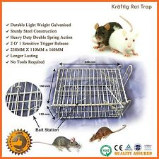 2x Humane Rat-trap Cage Live Animal Pest Rodent Mice Mouse Control Bait Catch