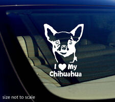 I love My Chihuahua Sticker Decal Heart Dog Animal Car 5""