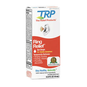 Ring Relief Ear Drops for Tinnitus Treatment Ringing Symptoms 0.33 oz