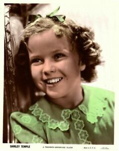Shirley Temple Rare Original Couleur 20th Siècle Fox Vintage Photo Portrait